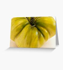 Green Tomato Macro  Greeting Card