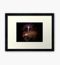 Bunnings fireworks Framed Print