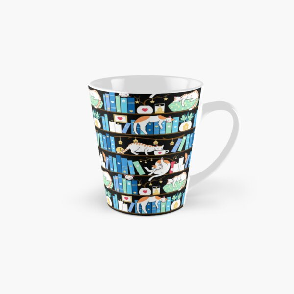 Library cats - turquoise morning Tall Mug