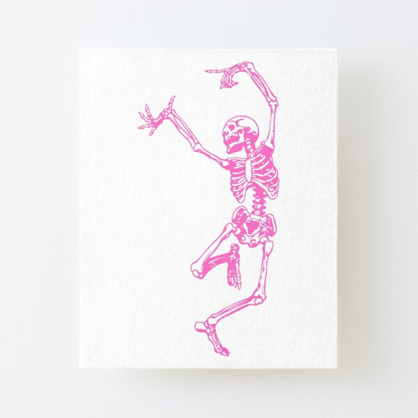 Dance With Pink Death Canvas Mounted Print