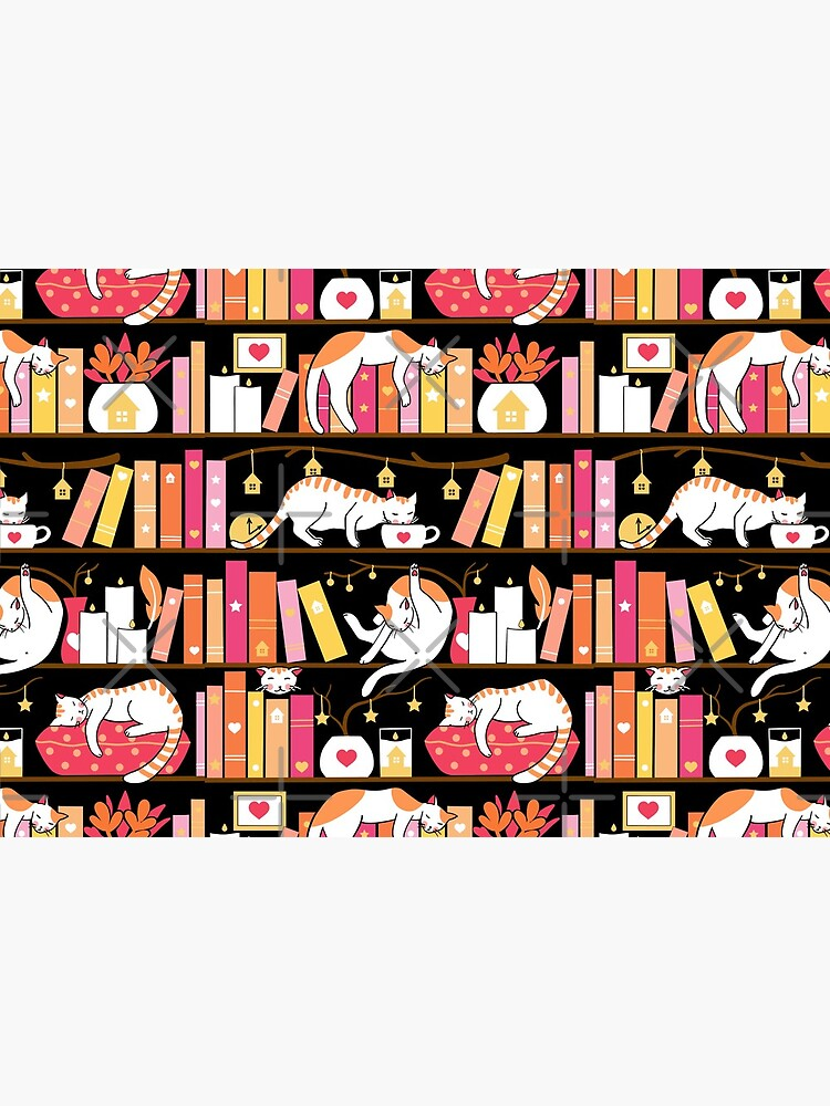Library cats - rose pink by Elenanaylor