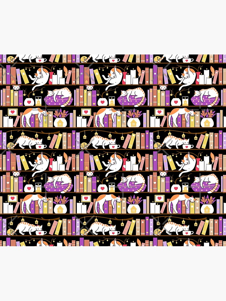 Library cats - dreamy violet by Elenanaylor