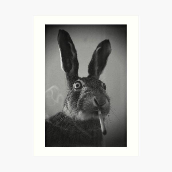 Bunny Smokes Art Print