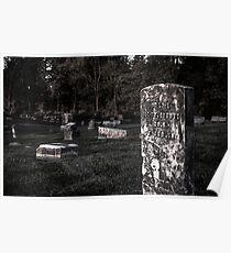 Eerie Graveyard Poster