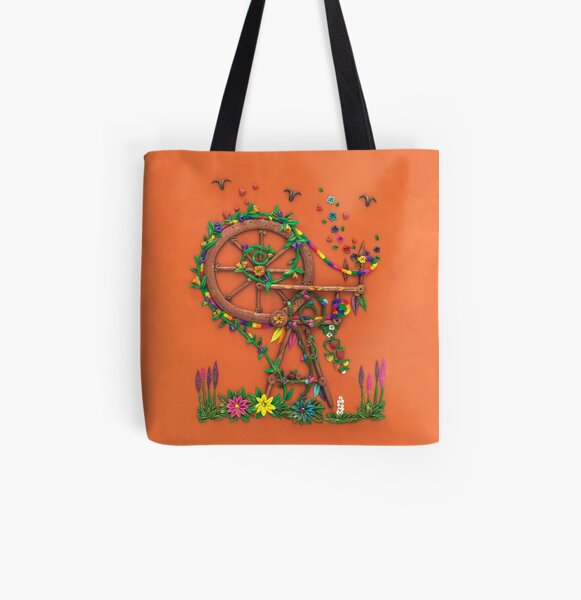 Spinning Time - Spinning Wheel Art All Over Print Tote Bag