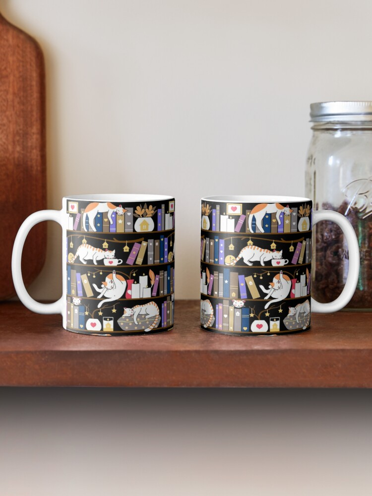 Alternate view of Library cats - fossil grey Mug