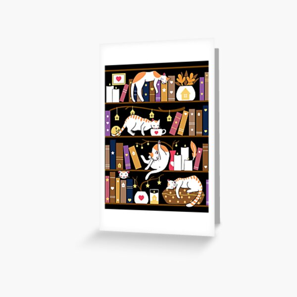 Library cats - caramel chocolate Greeting Card