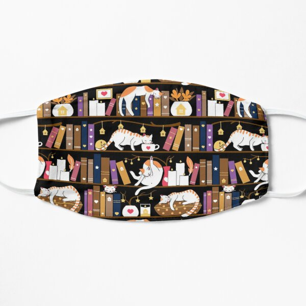 Library cats - caramel chocolate Mask