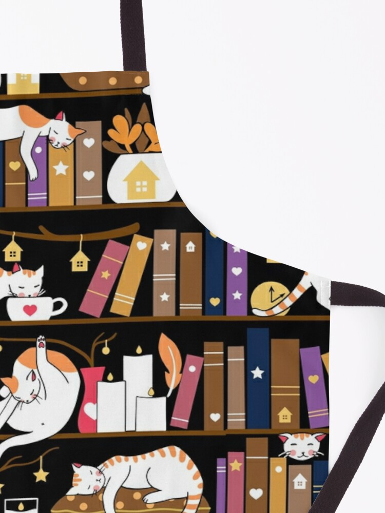 Alternate view of Library cats - caramel chocolate Apron