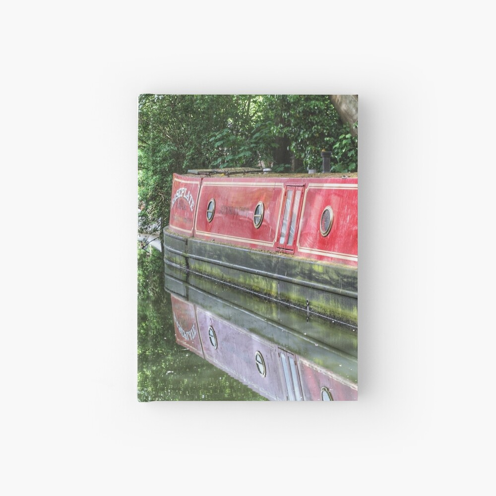 Dreamy Oxford Canal in May Hardcover Journal
