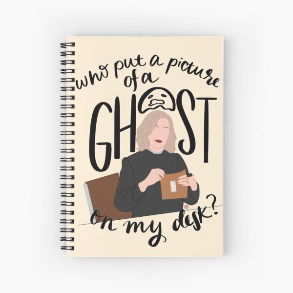 Who Put a Picture of a Ghost on my Desk? Spiral Notebook
