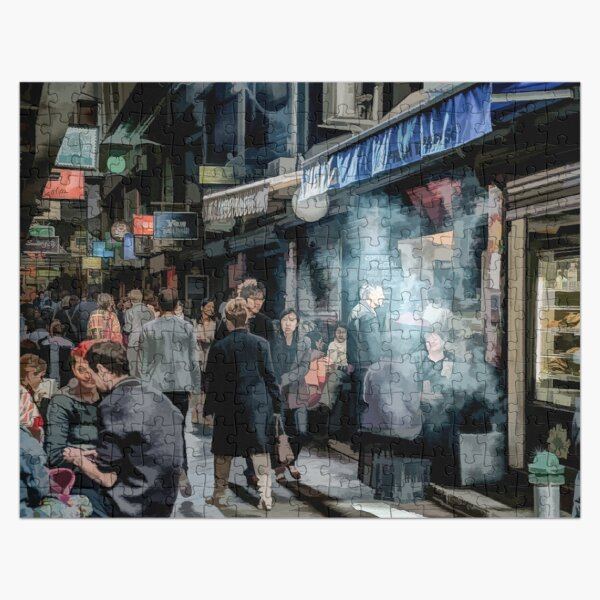 Deckards Lane (painted) Jigsaw Puzzle
