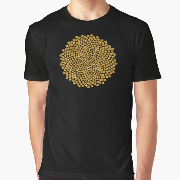 Sunflower, Seed, Fibonacci, Spiral, Golden Ratio, Math, Geometry Graphic T-Shirt
