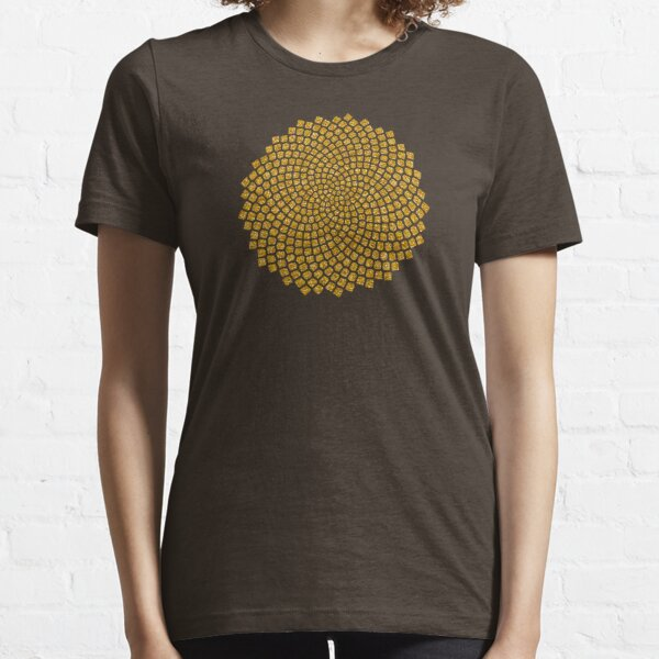 Girasol, Semilla, Fibonacci, Espiral, Proporción Dorada, Matemáticas, Geometría Camiseta esencial