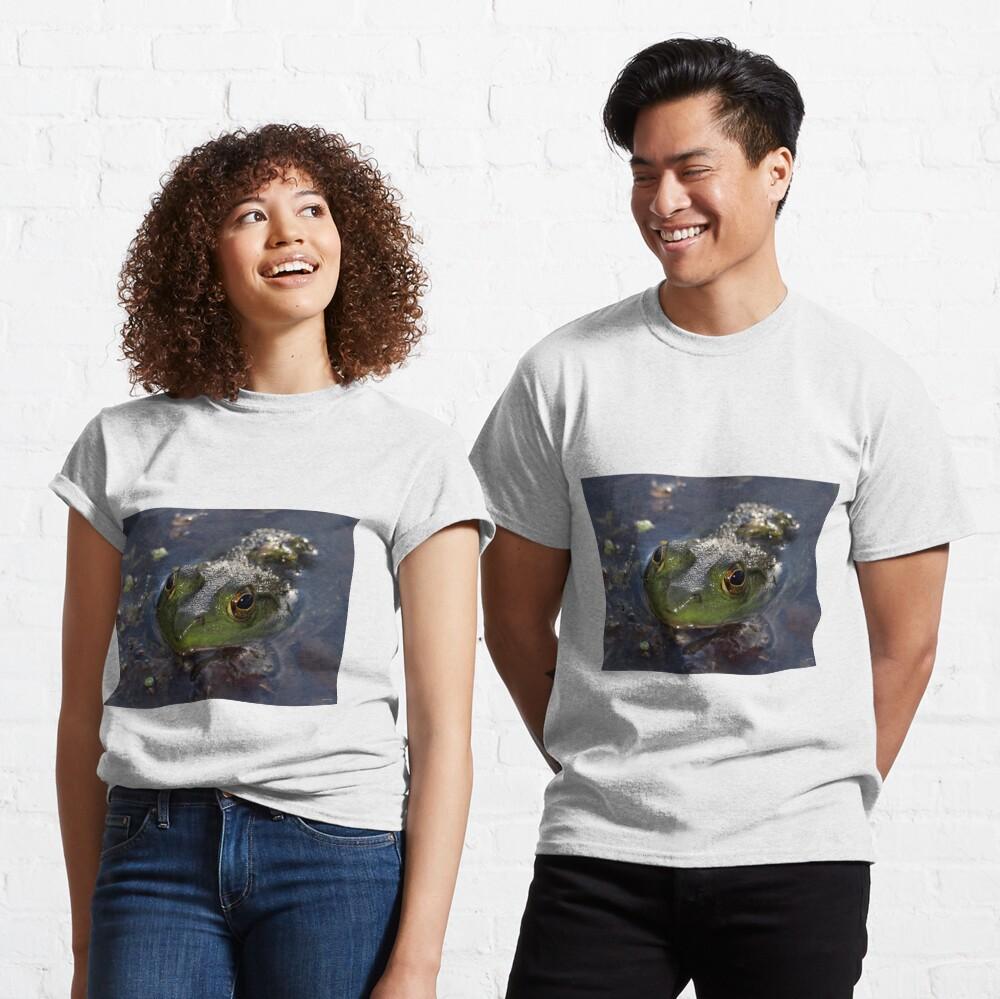 Green Frog Face Classic T-Shirt