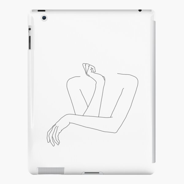 Folded arms line drawing - Anna iPad Snap Case
