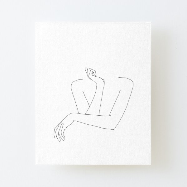 Folded arms line drawing - Anna Canvas Mounted Print