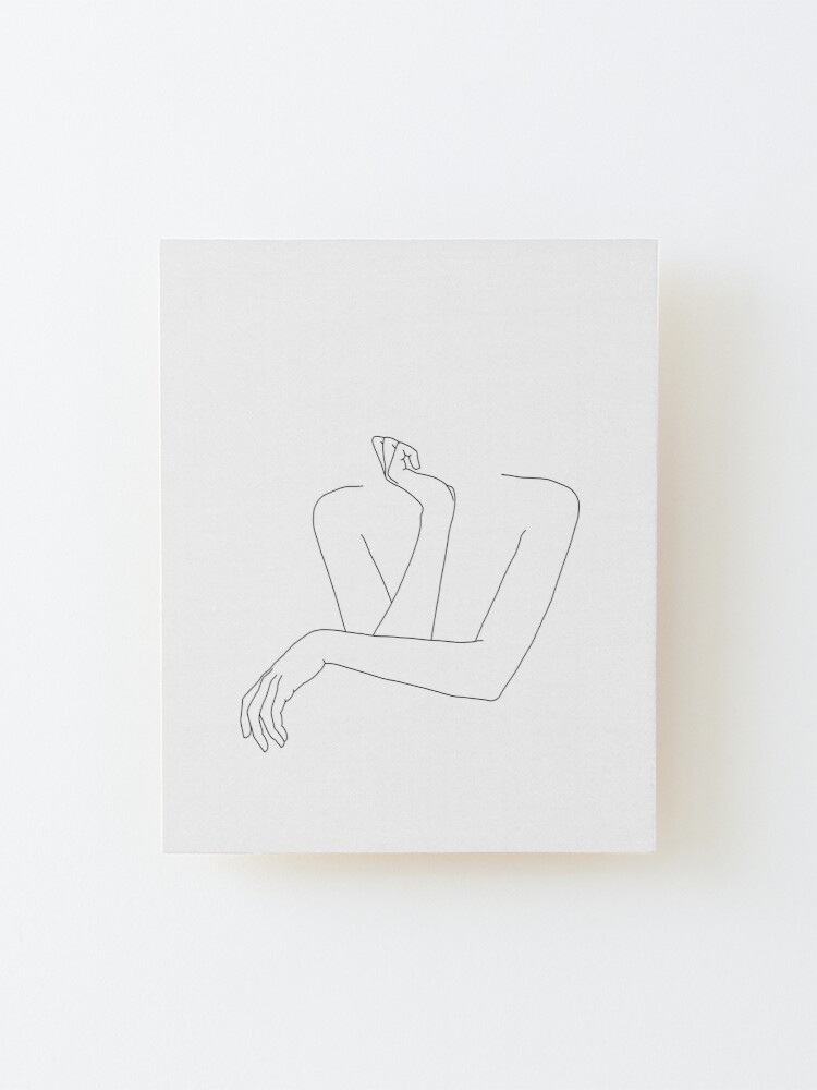 Alternate view of Folded arms line drawing - Anna Mounted Print