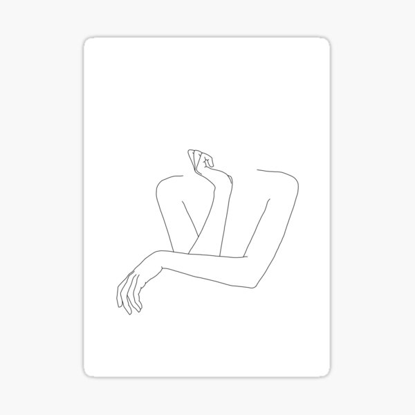 Folded arms line drawing - Anna Sticker