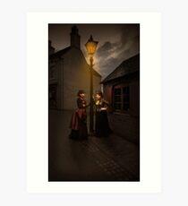Lamp Light Ladies Art Print