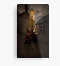 Lamp Light Ladies Metal Print