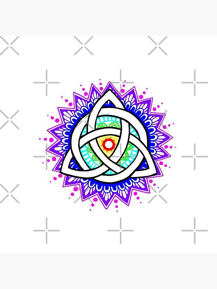Trinity Knot Colour Mandala by NatSmithDesigns