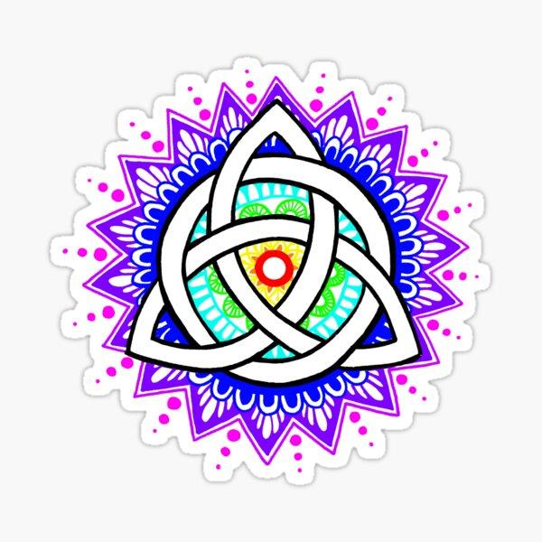 Trinity Knot Colour Mandala Sticker