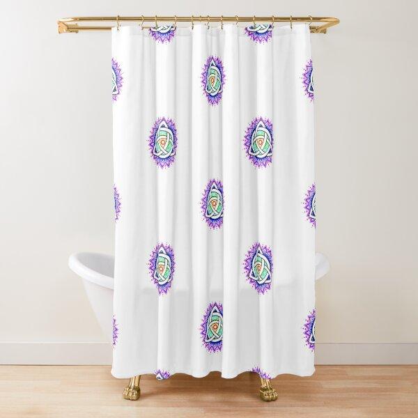 Trinity Knot Colour Mandala Shower Curtain