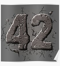 42 stone Poster