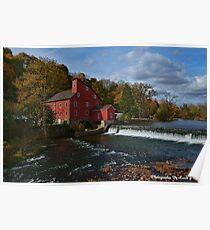 The Historic Red Mill of Clinton NJ Poster