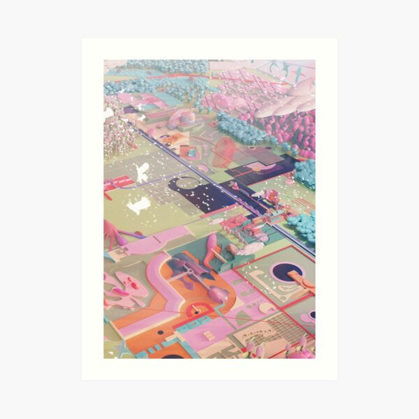 OF ROBBERS, KITES AND PAPER GARDENS VI Art Print