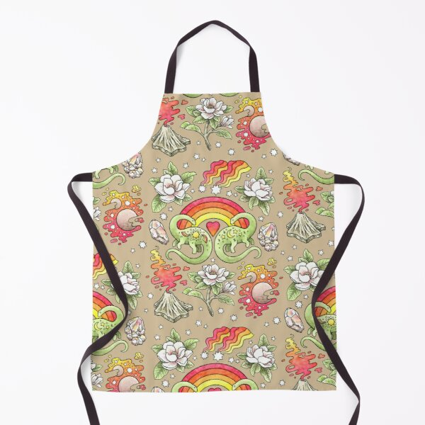 Love You Till Extinction | Dinosaur Watercolor Art Apron