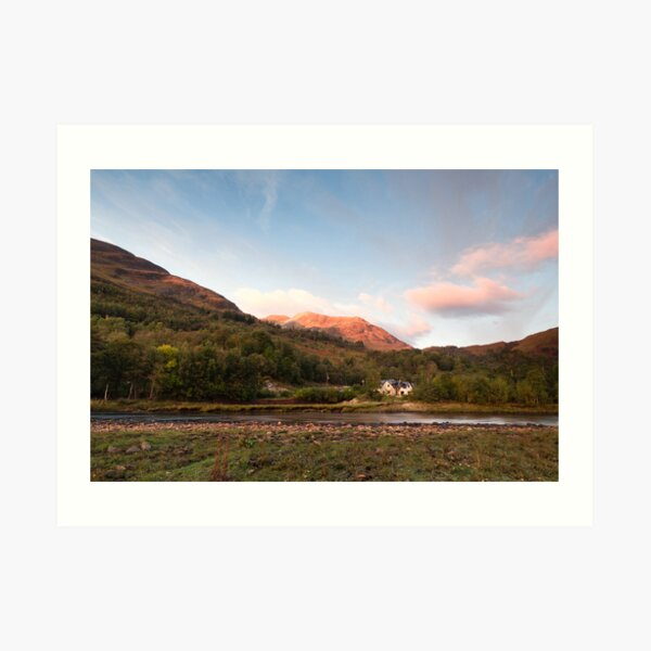 Evening on the River Leven Art Print