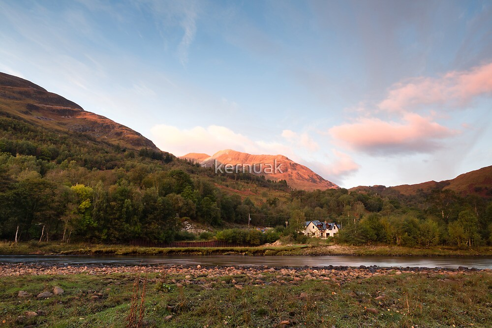 Evening on the River Leven by kernuak