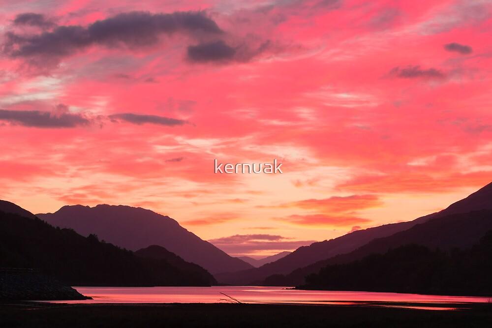 Fiery Skies over Loch Leven by kernuak
