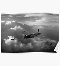 Vickers Wellingtons with 16 OTU black and white version Poster