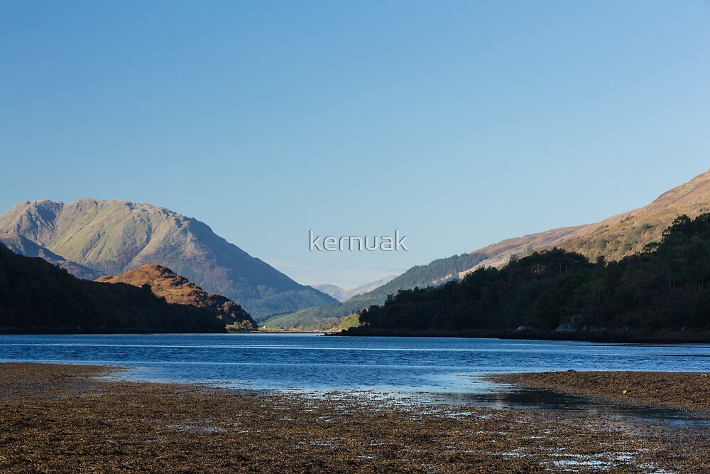 Incoming Tide at Loch Leven by kernuak