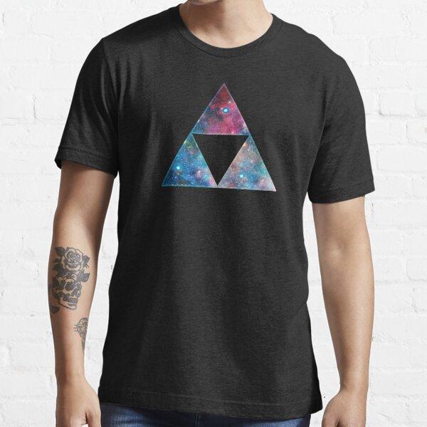 Triforce, Ancient Magical Symbol, Sierpinski Triangle, Galaxy Essential T-Shirt