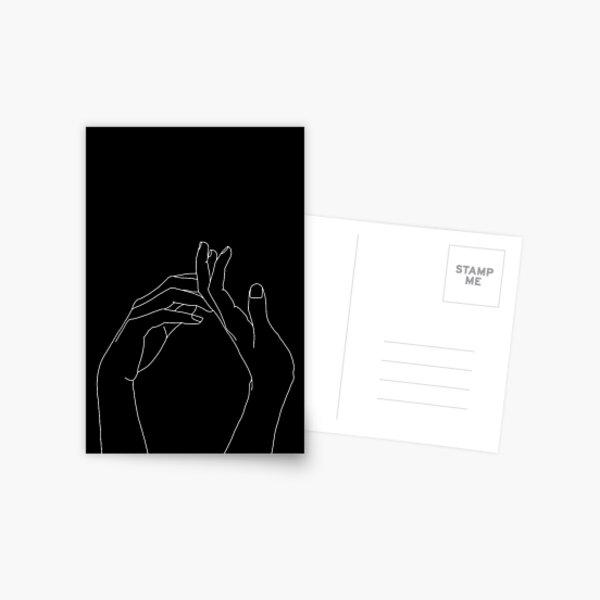 Hands one line illustration - Abi Black Postcard