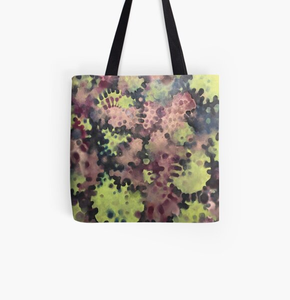 Moss- Fantasy Oil Pastel  All Over Print Tote Bag