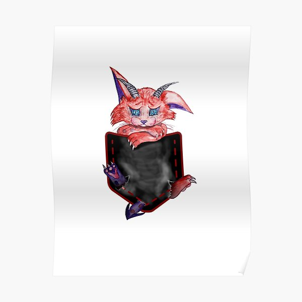 demon cat in your pocket Poster