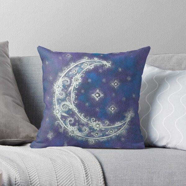 Moon Light - Crescent Moon Art Throw Pillow