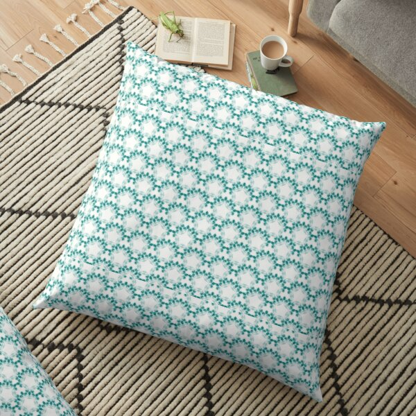 Blue floral design Floor Pillow