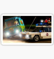 Ghostbusters vs Scooby Doo Sticker