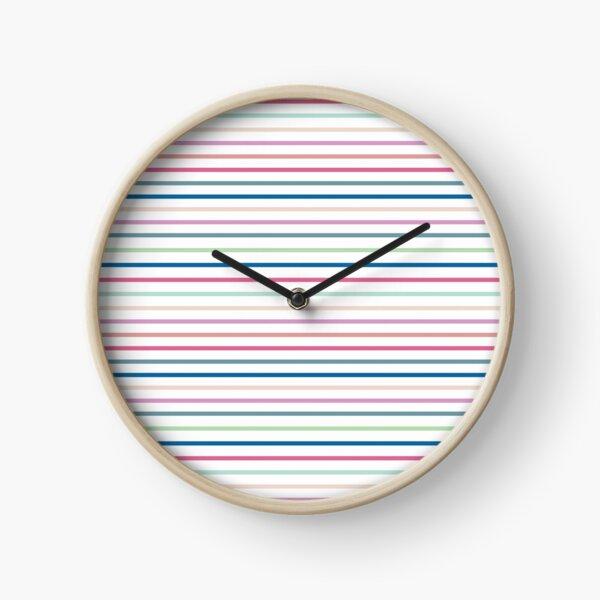 Brite Stripes Clock