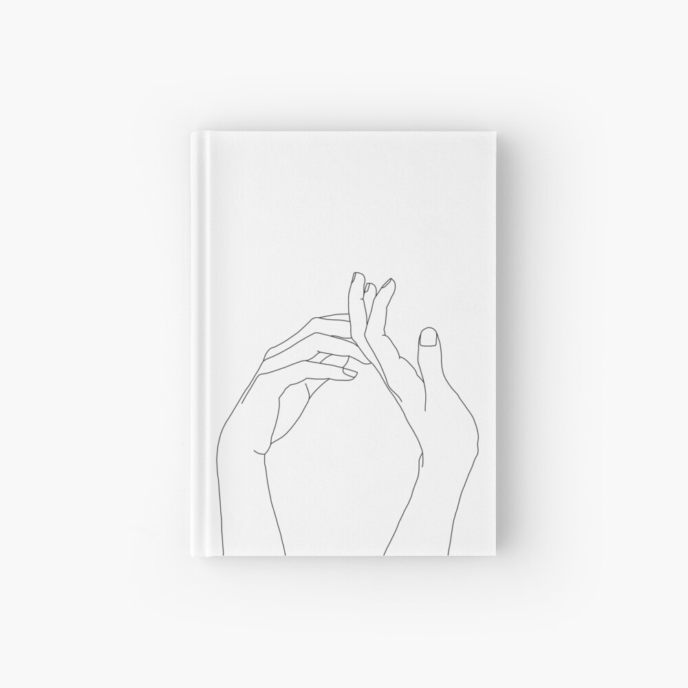 Woman's hands line drawing - Abi Hardcover Journal