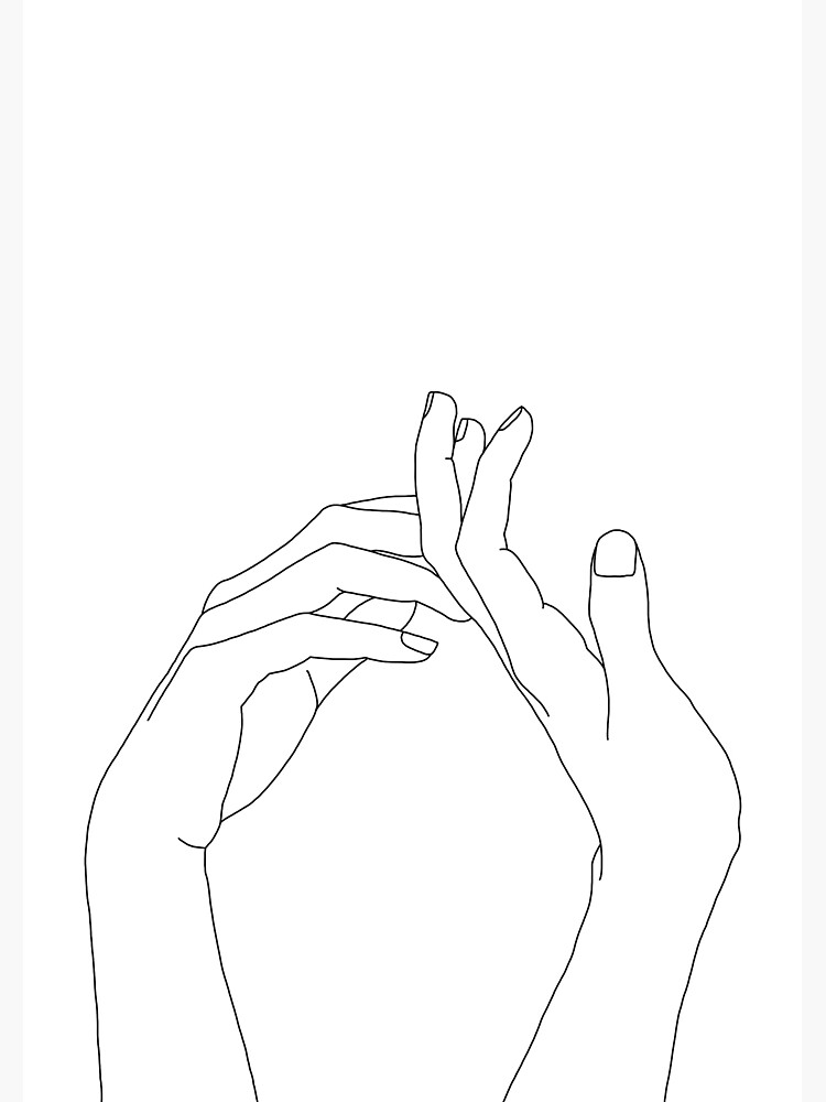 Woman's hands line drawing - Abi by TheColourStudy