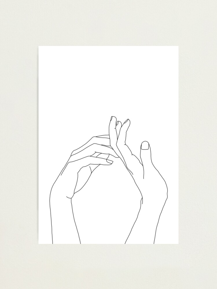 Alternate view of Woman's hands line drawing - Abi Photographic Print