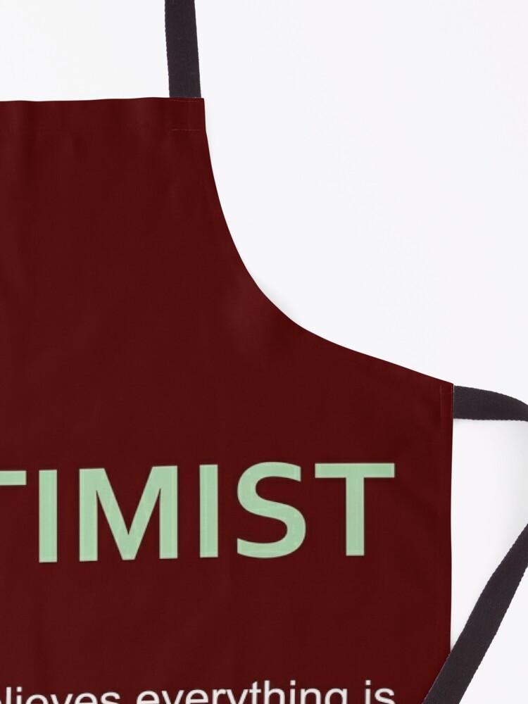 Alternate view of Hoptimist Design for Craft Beer Lovers Apron