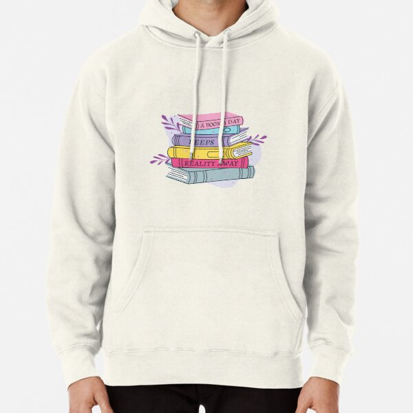 Funny national reading day typography quote Pullover Hoodie
